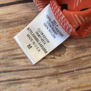 Pleione Tops - Pleione Orange Tank Top with Lace, Size M